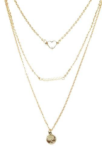 Buy glitz gold alloy 3 layered pendant necklace for women online at glitz gold alloy 3 layered pendant necklace for women aloadofball Images