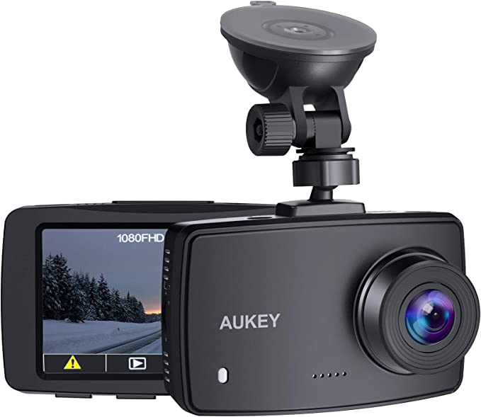 AUKEY Dash Cam 1080P FHD Car Camera Supercapacitor 170° Wide-Angle Dash Camera for Cars 2.7 Inch LCD Screen, WDR, G-Sensor, Loop Recording, Motion ...