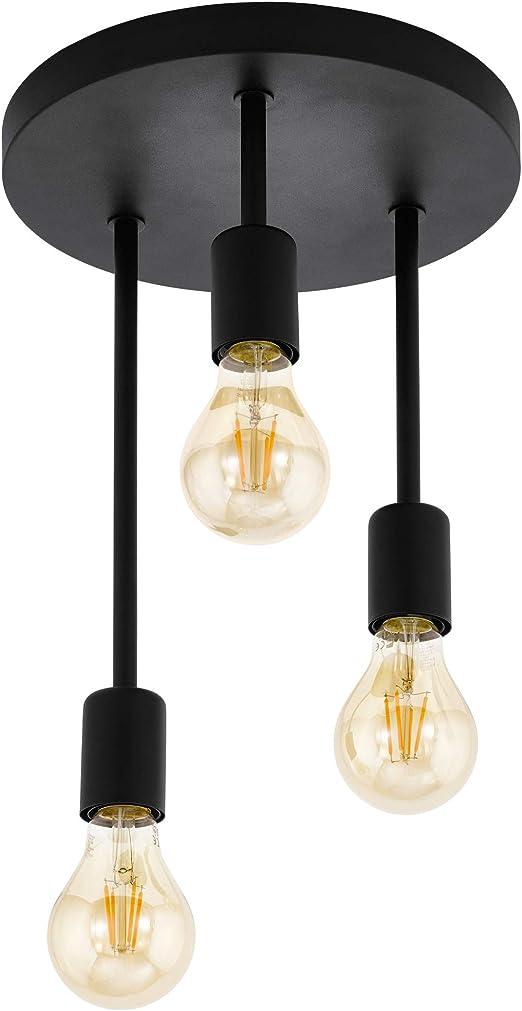 Eglo Lámpara De Techo Negro Amazon Es Iluminación