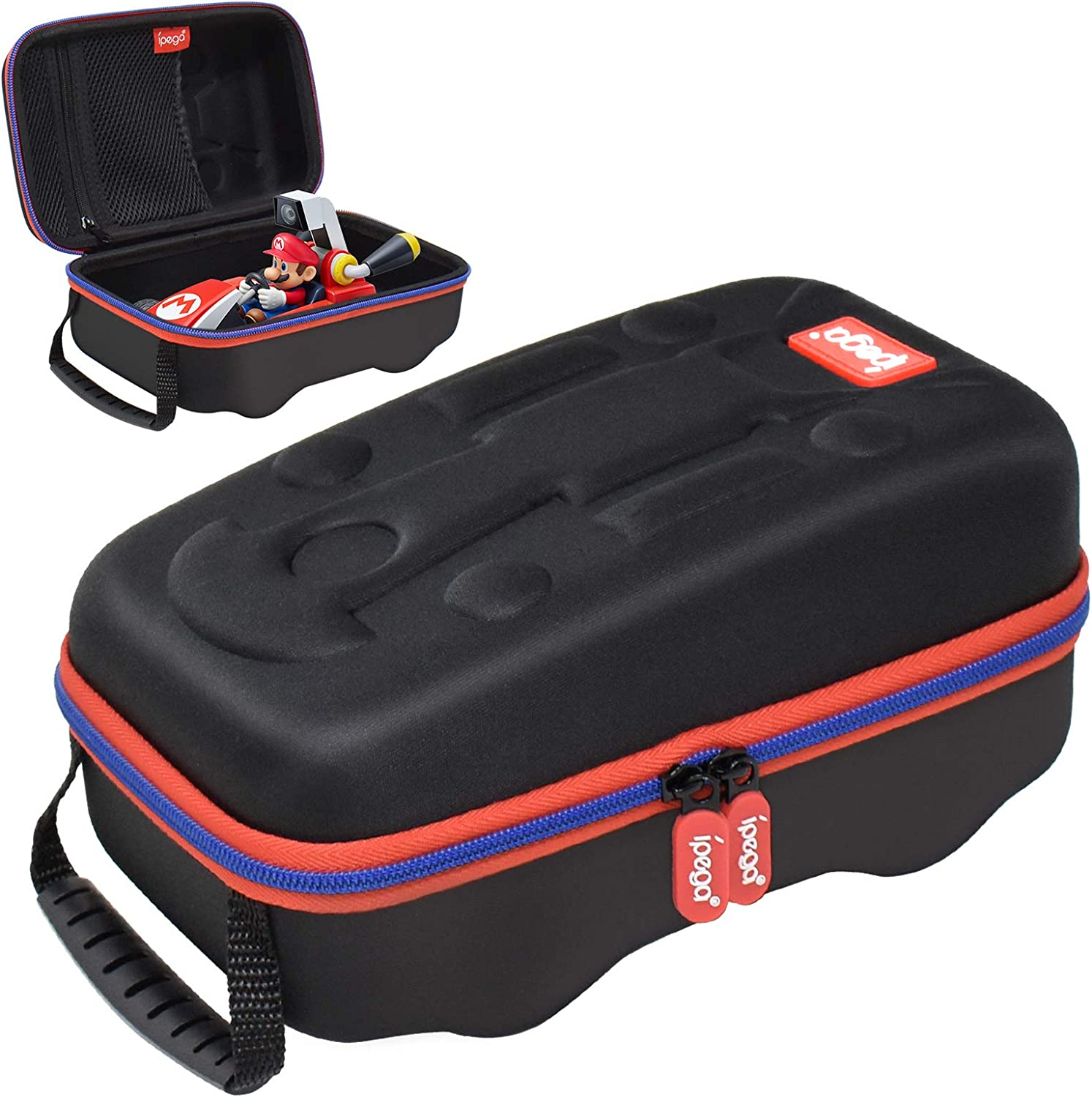 Carrying Case for Mario Kart Live: Home Circuit, Portable Protective Hard Shell Travel Bag Case for Nintendo Switch Mario Kart Live - Black