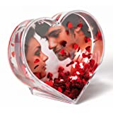 Walther Glitterheart Profil With Red Metal Hearts 9.1 x 6.5 cm