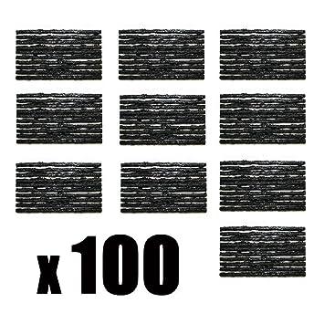 100 cubiertas placas de reparación Neumáticos Juego de parches Flickzeug - Set de reparación de pinchazos (Auto Juego de neumáticos para camiones y coches ...