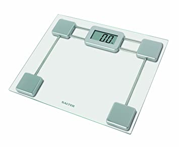 Salter Digital Bathroom Scales Toughened Glass – Electronic Body Weighing  kg or Stone 0 1kg or 1/4 lb Increments Easy Read Display Step-On Instant