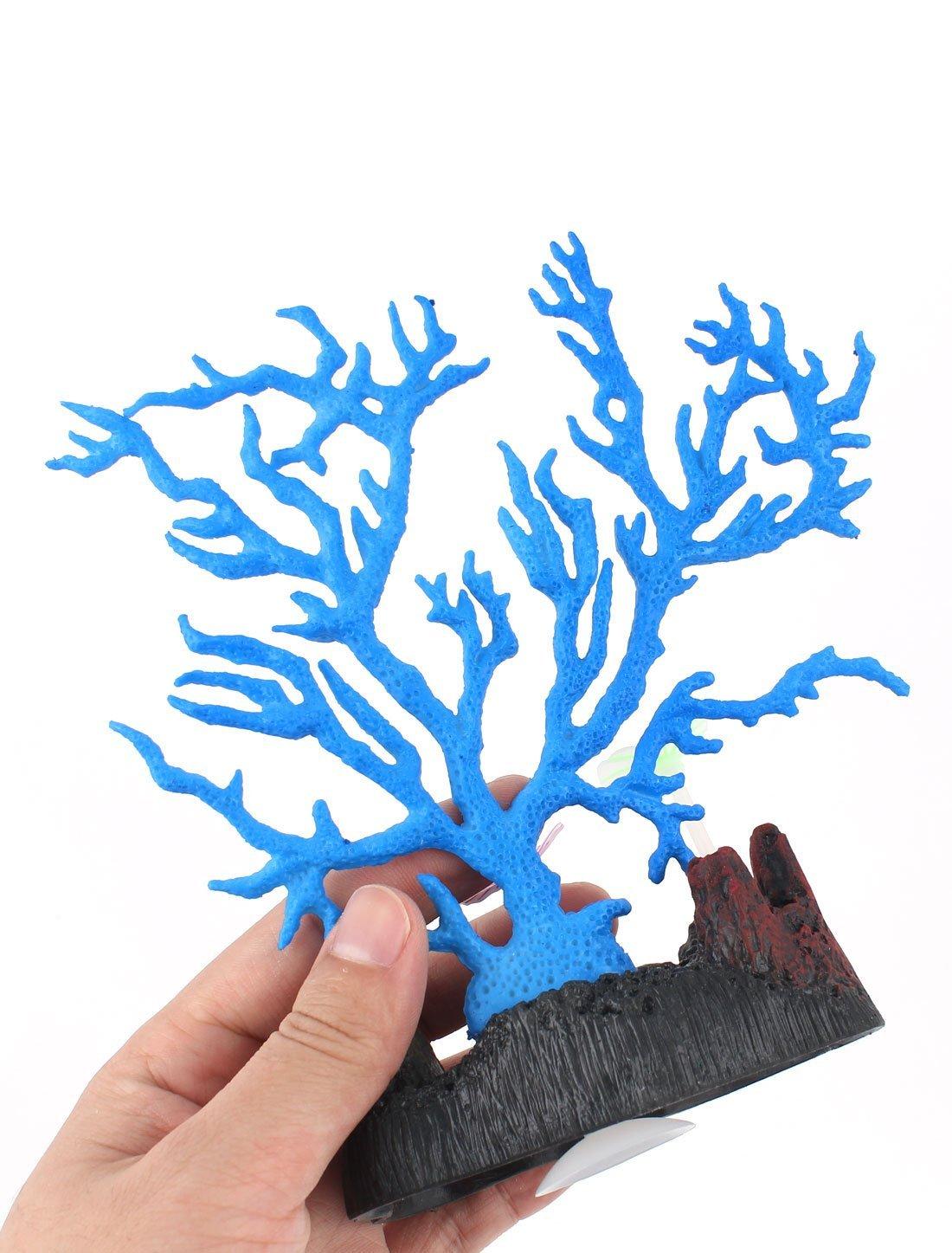 Amazon.com : eDealMax silicona TPR acuario de neón Coral Artificial Decoración Azul 16 cm de Alto : Pet Supplies