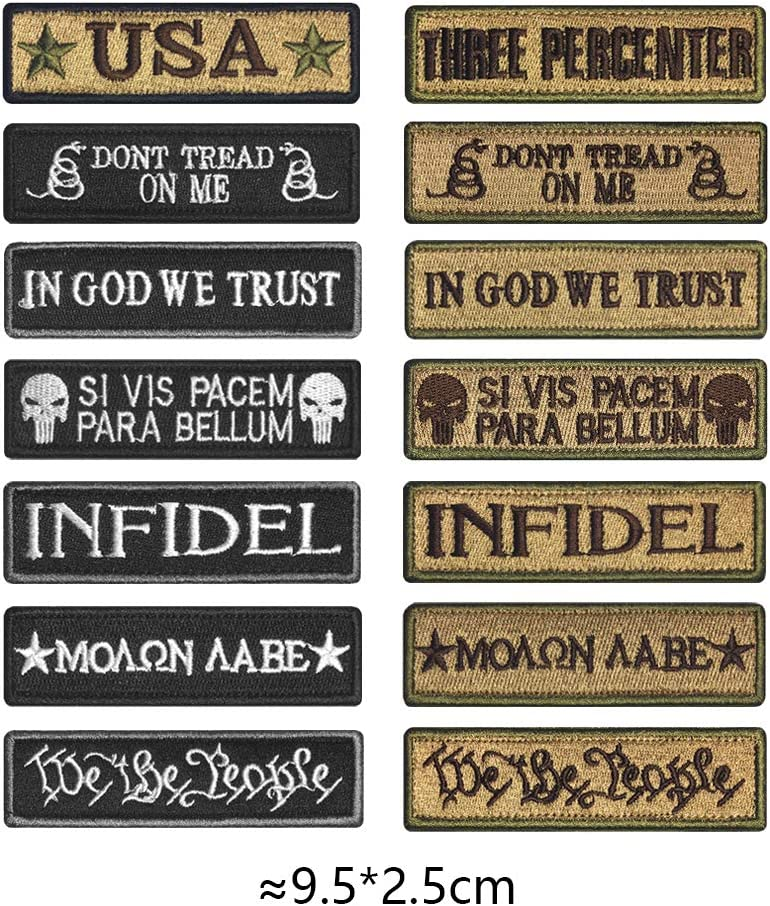 Molon Labe Morton Home Great Value Tactical Morale Patch Full Embroidery Military Patches Set for Caps,Bags,Backpacks,Tactical Vests,Military Uniforms Etc.