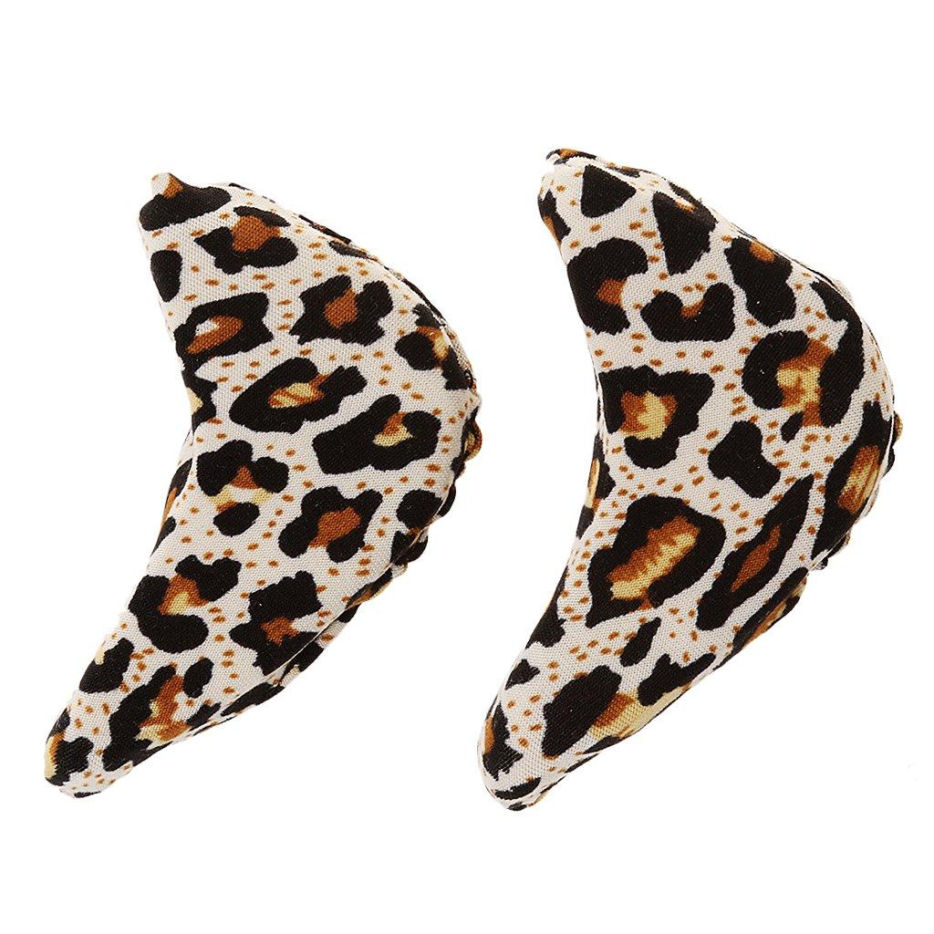 1 Paar weich Schwamm Vorfuß / Zehen Einlegesohlen, High Heels / Schuhe mit hohen Absätzen Einlegesohlen, Schmerzlinderung Schmerzlinderung - Leopard 6.5 * 3.2 * 2cm STK0154011032