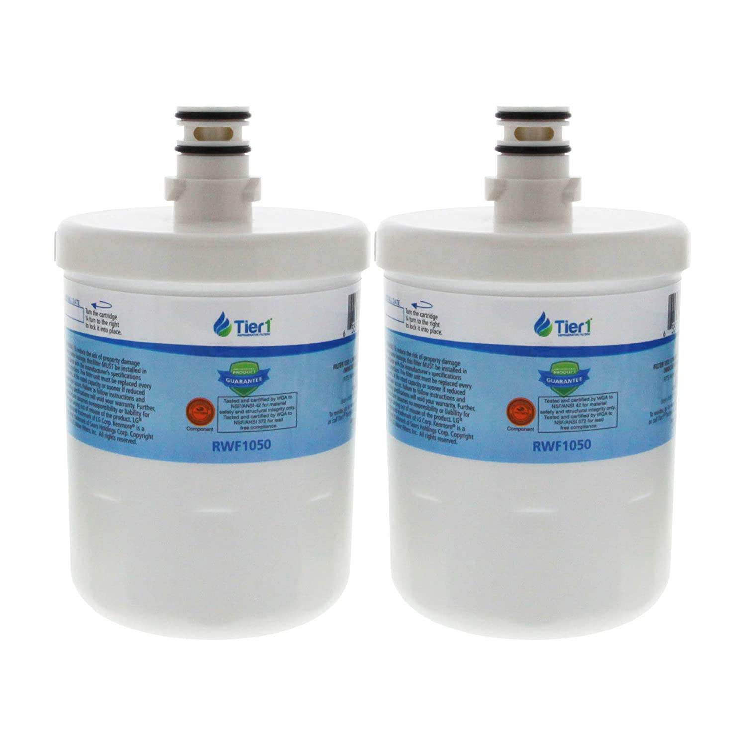 Tier1 Replacement for LG LT500P, 5231JA2002A, GEN11042FR-08, ADQ72910902, ADQ72910907, ADQ72910901 Refrigerator Water Filter 2 Pack