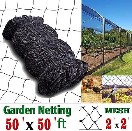 """25x50ft Bird Net Netting 2/""""X2/"""" Mesh For Poultry Aviary Games Pens UV Resistant"""