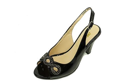 Melluso Medio Tacco Sandali Sandali Eleganti 4L35ARjq