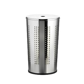 Wäschesammler Design axentia wäschekorb metall 50 liter verchromt wäschebox