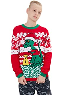 c475acb83460 Loveternal Kids Sweater Novelty Family Christmas Jumpers Age 6-17 Years