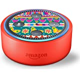 Skin Decal Vinyl Wrap for Amazon Echo Dot Kids Edition Stickers Decals Fun - Hearts and Flowers Girls Rock