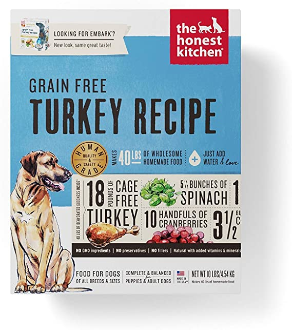 The Honest Kitchen Human Grade Dehydrated Grain-Free Dog Food - The Best Dehydrated Dog Food for Yeast Infections