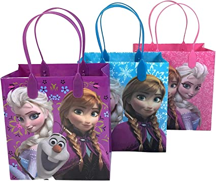 "Disney Frozen Elsa Anna 6/"" Birthday Goody Gift Loot Favor Bags Party Supplies"