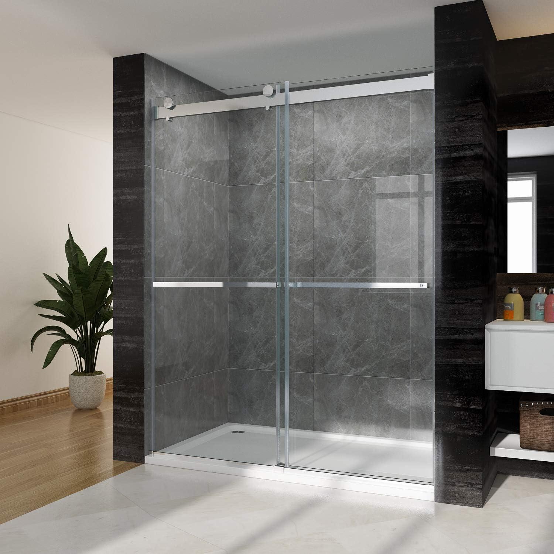 SUNNY - Puerta de ducha sin marco con cristal deslizante, 2 formas ...
