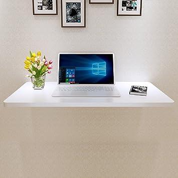 Mesa para niños Mesa de ordenador de madera Mesa de hojas abatibles Mesa de comedor plegable Mesa de pared blanca Estudio Mesa para ordenador portátil ...