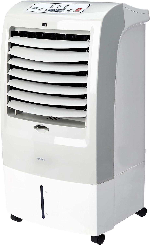 AmazonBasics - Enfriador de aire portátil oscilante 3 en 1 (ventilador, humidificador y purificador) con 3 velocidades, temporizador y control remoto, 60W