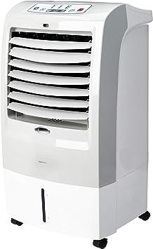 Image of AmazonBasics - Enfriador de aire portátil oscilante 3 en 1 (ventilador, humidificador y purificador) con 3 velocidades, temporizador y control remoto, 60W