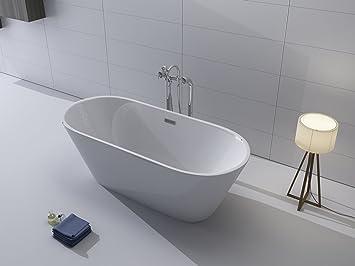 Luxus Freistehende Badewanne 170x80 + Acrylwanne Inkl. Ablauf Und Überlauf  (Whirlpool, Dusche,