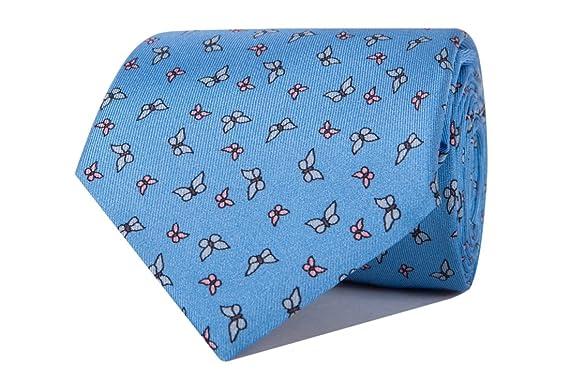 SoloGemelos - Corbata Azul Con Mariposas - Celeste - Hombres ...