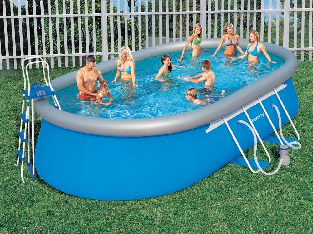 Piscina autoestable bestway oval fast set 6,10 x 3,66 x 1,22m ...