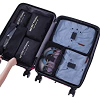 Sackorange 7 Set Travel Storage Bags Packing cubes Multi-functional Clothing Sorting Packages,Travel Packing Pouches,Luggage Organizer