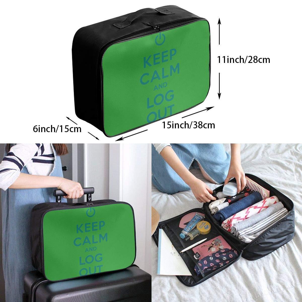 Travel Luggage Duffle Bag Lightweight Portable Handbag Log Out Large Capacity Waterproof Foldable Storage Tote