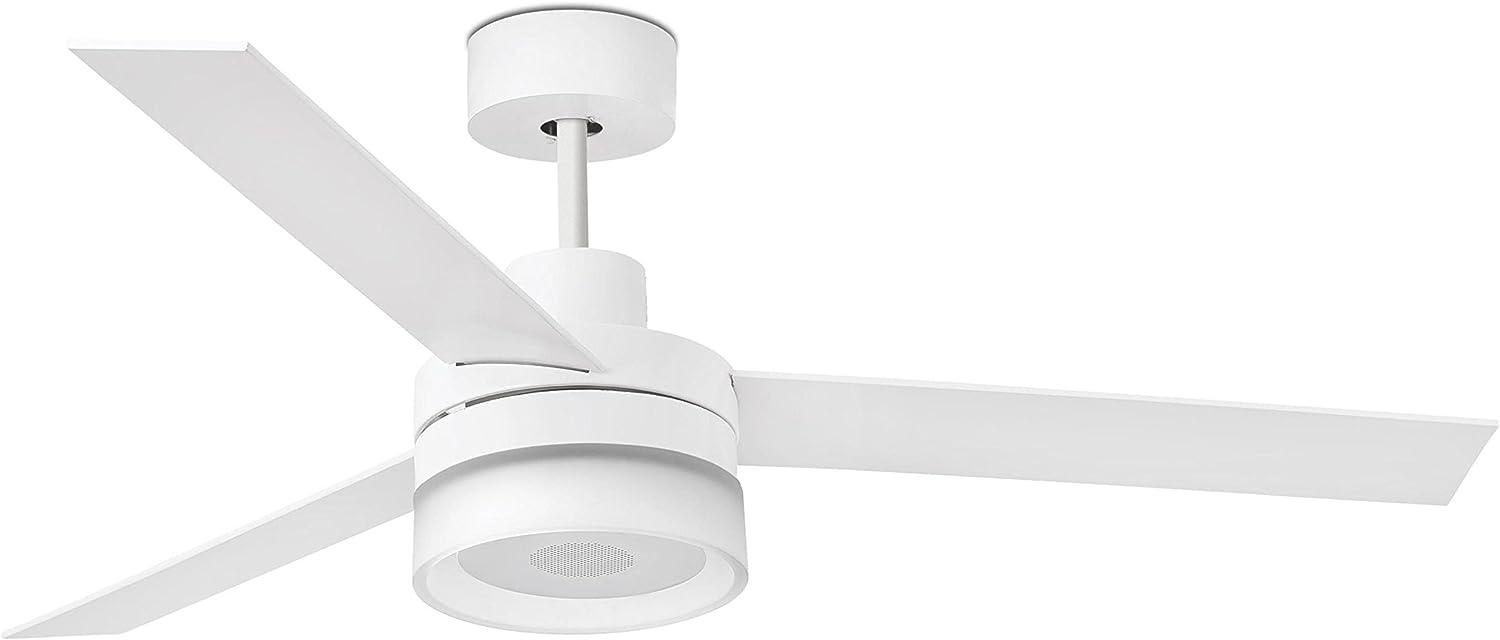 Faro Barcelona 33460- ICE LED SPEAKER Ventilador de techo y altavoces, blanco