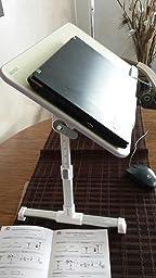 mapux multifunktionstisch tragbar h henverstellbar und winkelverstellbar laptoptisch. Black Bedroom Furniture Sets. Home Design Ideas