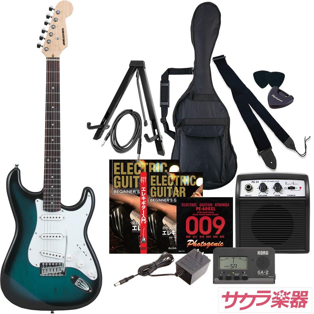 SELDER セルダー エレキギター ストラトキャスタータイプ ST-16/BLS BLサンバースト サクラ楽器オリジナル初心者入門12点セット  BLS/BLサンバースト B0771NTQMP