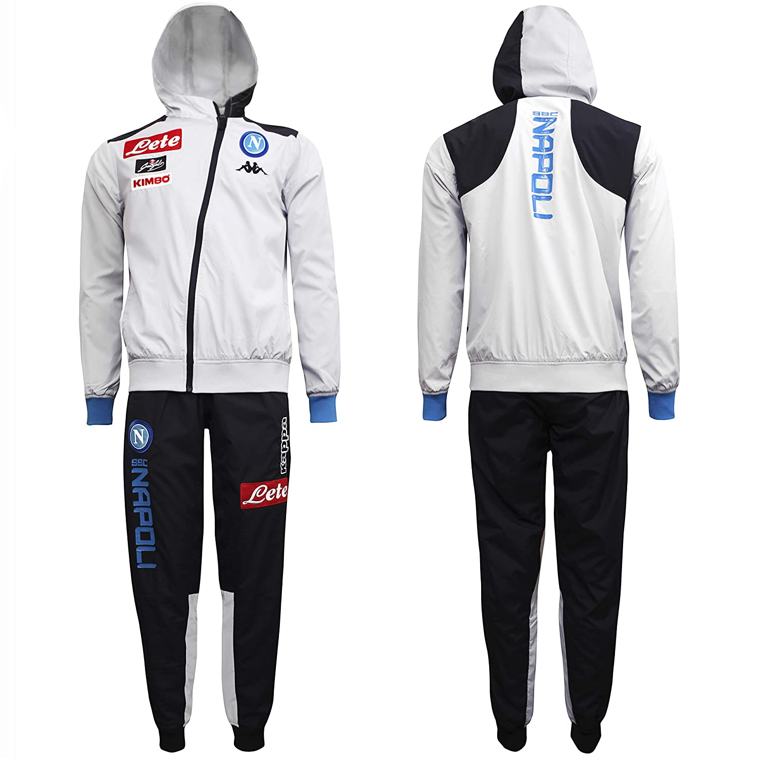 20ecb8a9ace8 SSC Napoli representation microfibre tracksuit with hood  Amazon.co.uk   Sports   Outdoors