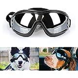 Namsan Dog Goggles UV Protection Dog Sunglasses Medium to Large Dogs Eyewear for Wind, Dust, Snow Protection, Adjustable Elas
