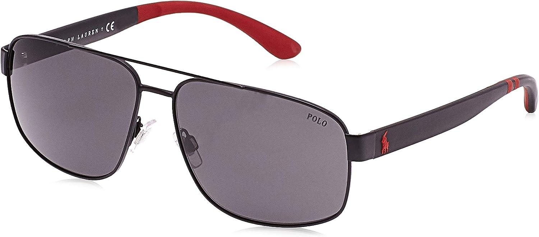 Polo Ralph Lauren 0PH3112, Gafas de Sol para Hombre, Negro (Matte ...