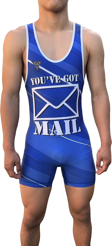 Folkstyle//Freestyle//Greco TRI-TITANS Full Send Wrestling Singlet Blue