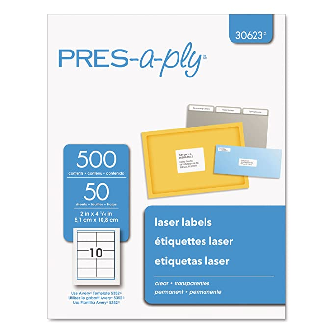 Amazon pres a ply 30623 laser shipping labels 2 x 4 14 amazon pres a ply 30623 laser shipping labels 2 x 4 14 clear 500box office products maxwellsz