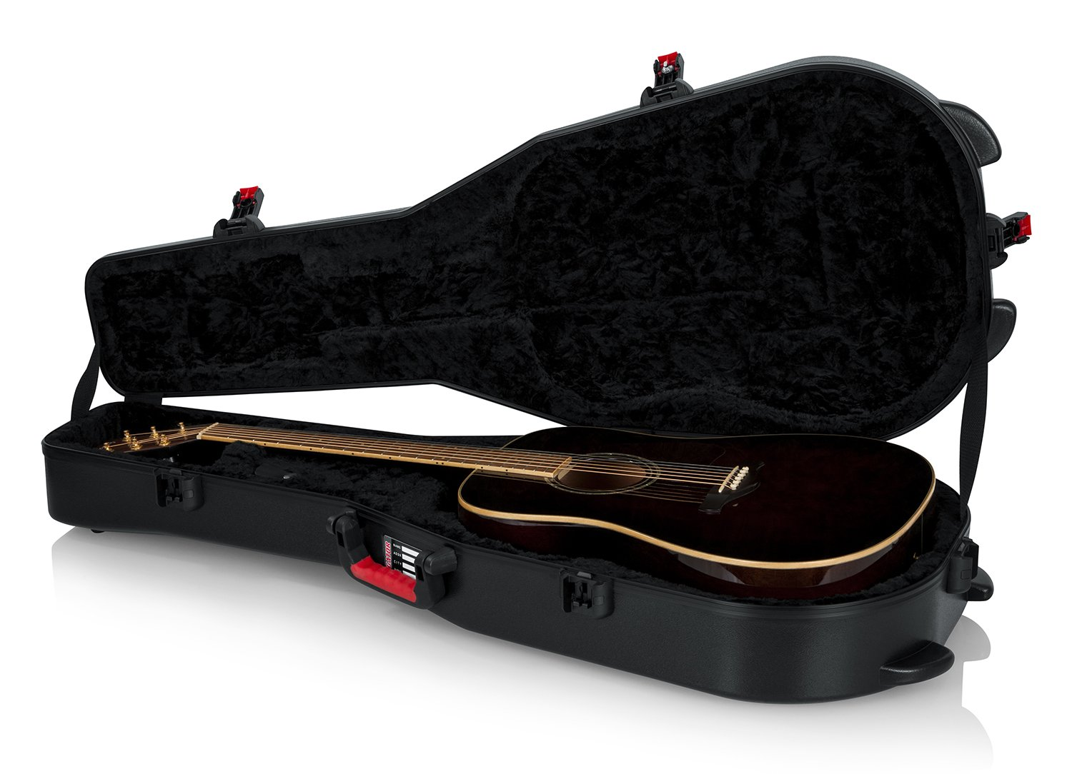 Gator Cases Molded Flight Case for Acoustic Dreadnought Guitars with TSA Approved Locking Latch; (GTSA-GTRDREAD)