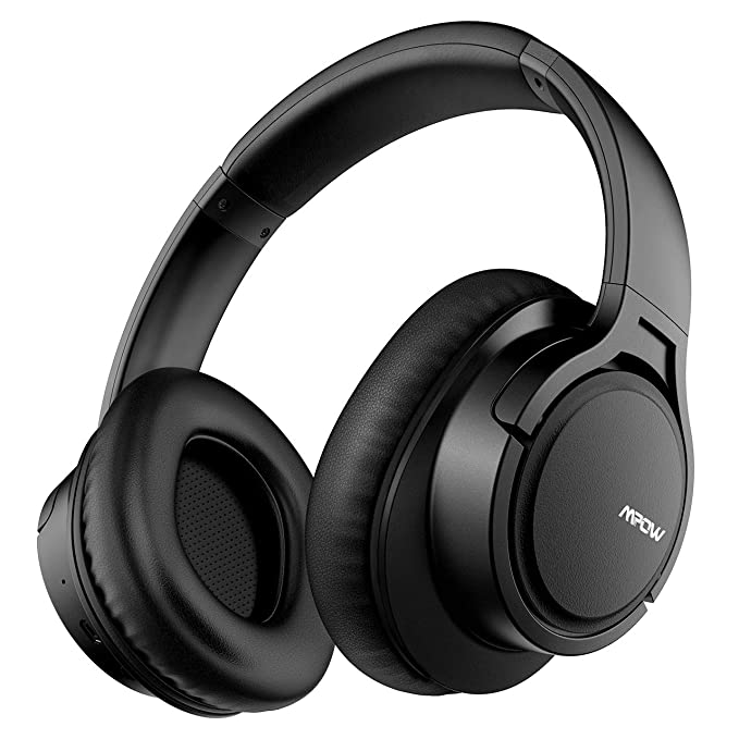 c7f610339b7 Mpow H7 Bluetooth Headphones Over Ear, 18 Hrs Comfortable Wireless  Headphones w/Bag,