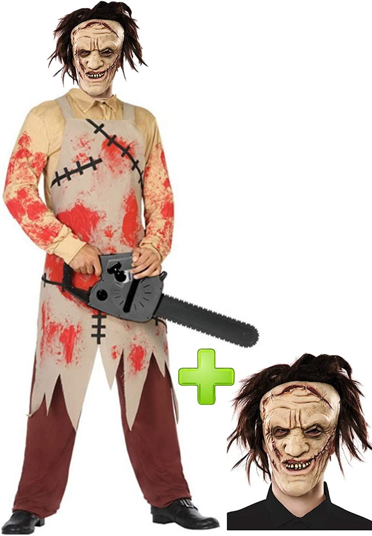 Disfraz de Carnicero Sangriento con mascara: Amazon.es: Ropa y ...