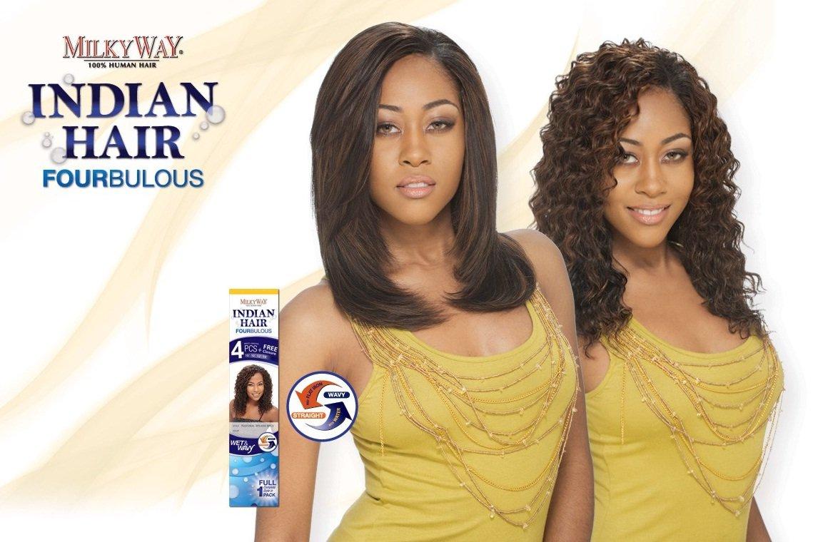 Amazon Milky Way Fourbulous 100 Human Hair Weave Indian