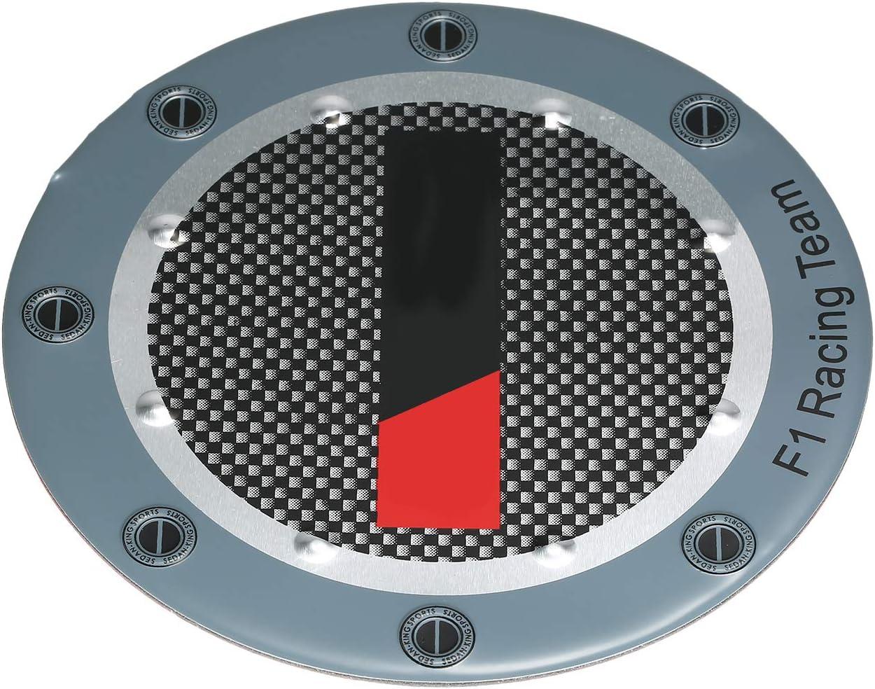 Bouchon dhuile Remplacement Rond dautocollant Rond en Aluminium de bo/îte /à Huile de Bouchon de Carburant pour Toyota Land Cruiser FJ60