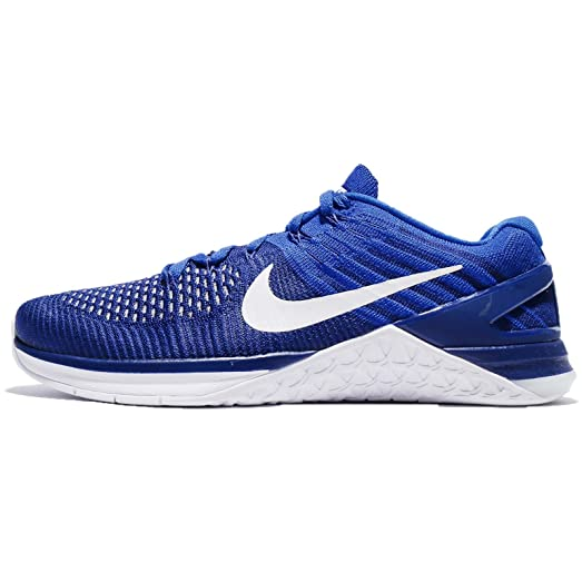 NIKE Men's Metcon DSX Flyknit, Deep Royal Blue/White, ...