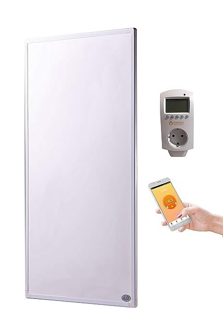 Panel de calefacción por infrarrojos, 300 W, con termostato ...