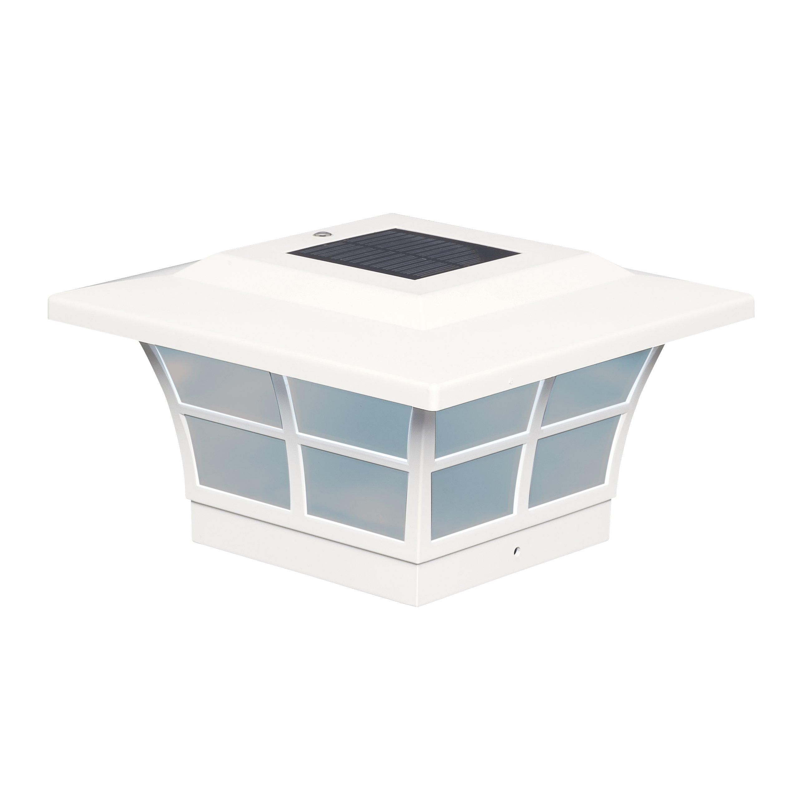 Classy Caps 5x5 PVC Prestige Solar Post CAP SL085 White (8-pack)