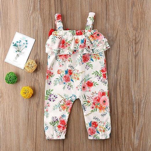 Wang-RX Niño pequeño Bebés Bebés Niños Una Pieza Traje de Mameluco ...