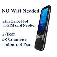 Jarvisen Language Translator Device with Unlimited 2-Year Global Data (No WiFi Need) 200+ Countries 95+% Accuracy Instant Real-time Voice Translation & Offline Translation w/Bluetooth & 4G/LTE (Grey)
