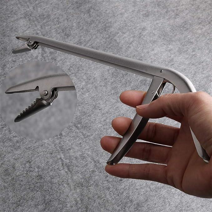 Fish Clamp Lip Trigger Lock Gripper Clip Grabber Plier Fishing Tackle Accessory