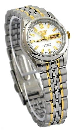 Seiko Reloj analogico para Mujer de automático con Correa en Acero Inoxidable SYMA35K1: Seiko: Amazon.es: Relojes