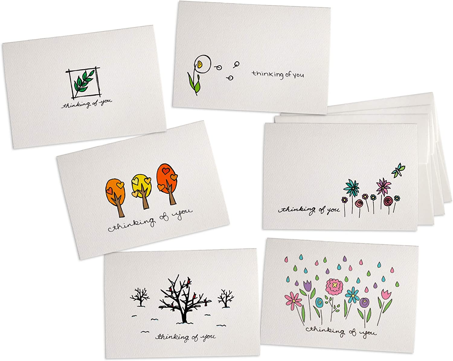 Nature Thinking of You Collection Pack Set - 24 Note Cards with Envelopes