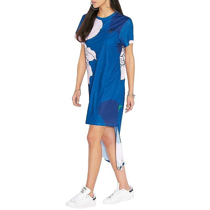 adidas Vestido - Manga corta - para mujer azul azul 34