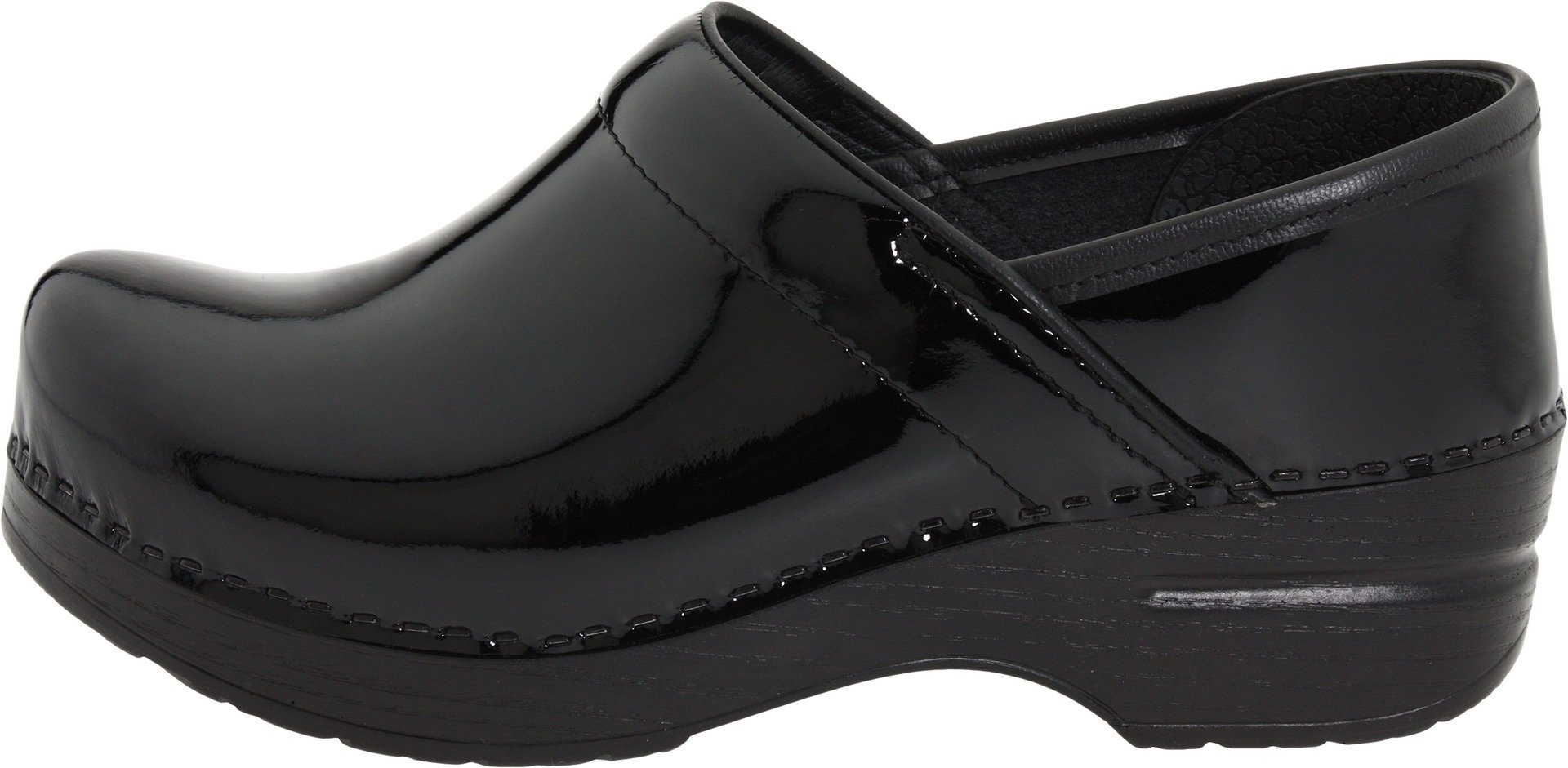 Dansko Women's Professional Patent Leather Clog,Black Patent,37 EU / 6.5-7 B(M) US by Dansko (Image #5)